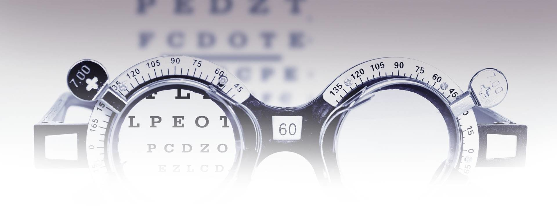 Eye Refraction Test Performed During an Eye Exam